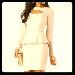Peplum mini peplum dress with cutout